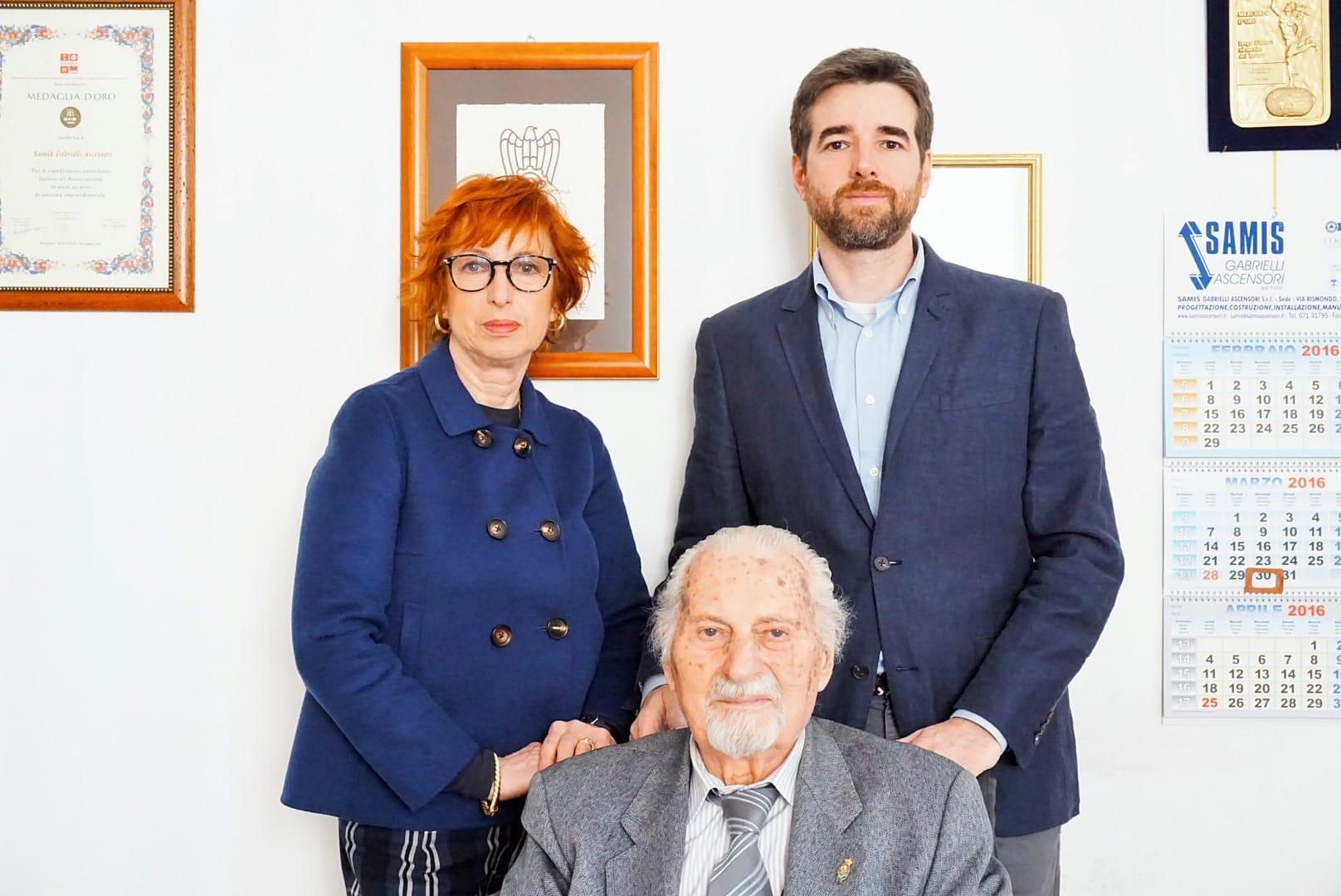 SAMIS Gabrielli ascensori, Ing. Paolo Gabrielli, Valeria Gabrielli e Gabriele Fortunati