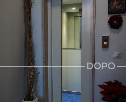 Esempio di una modernizzazione di un ascensore obsoleto - DOPO
